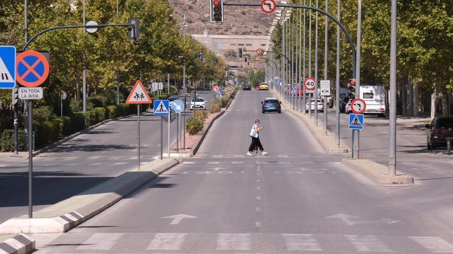 La avenida de Ronda de Elda, cerrada al tráfico para vehículos a motor este fin de semana