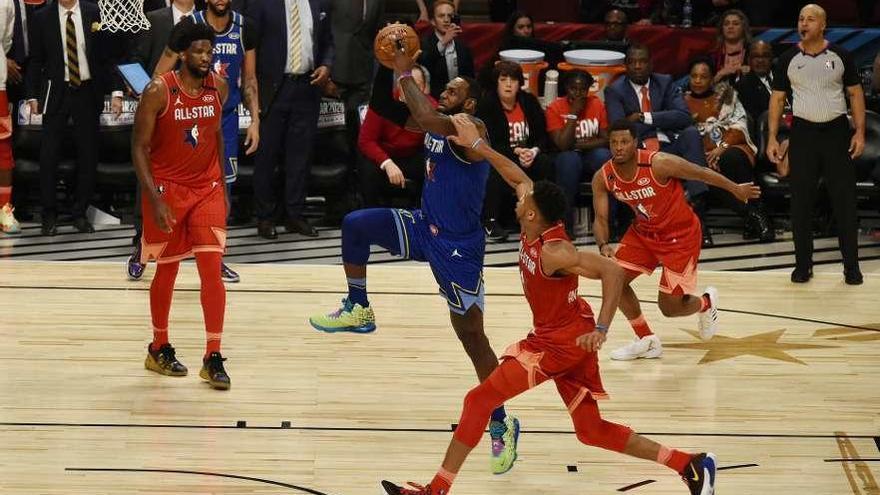 El equipo de LeBron se lleva el All Star homenaje a Kobe Bryant
