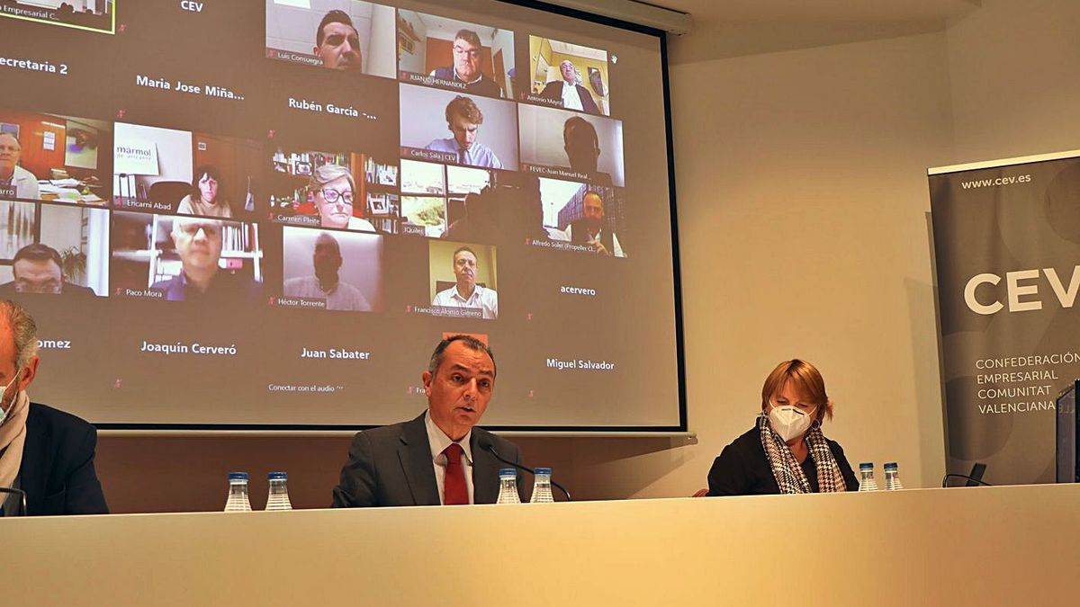 The meeting of the CEV yesterday, which was held in person and online.