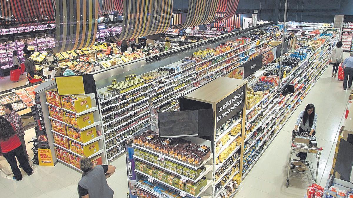El supermercado Eroski de Santa Ponça.