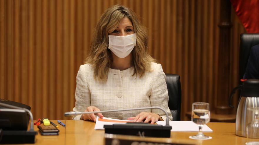 """Díaz pide que Unidas Podemos dé """"un paso más"""" con la agenda legislativa"""