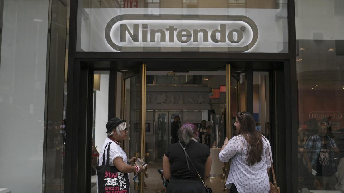 Fachada de la tienda Nintendo en Nueva York