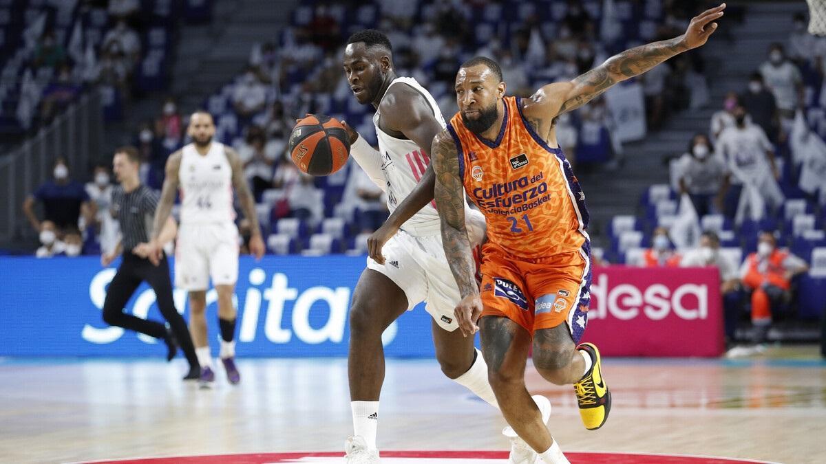 Un instante del Real Madrid - Valencia Basket.