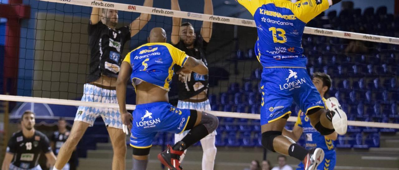 El Guaguas ante el WWK Volleys Herrsching