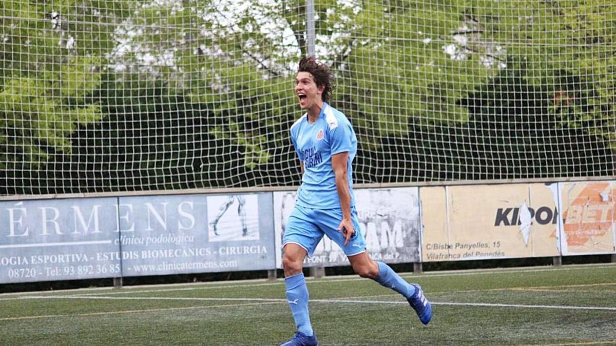 El central Pau Resta va fer dos gols ahir contra el Vilafranca.