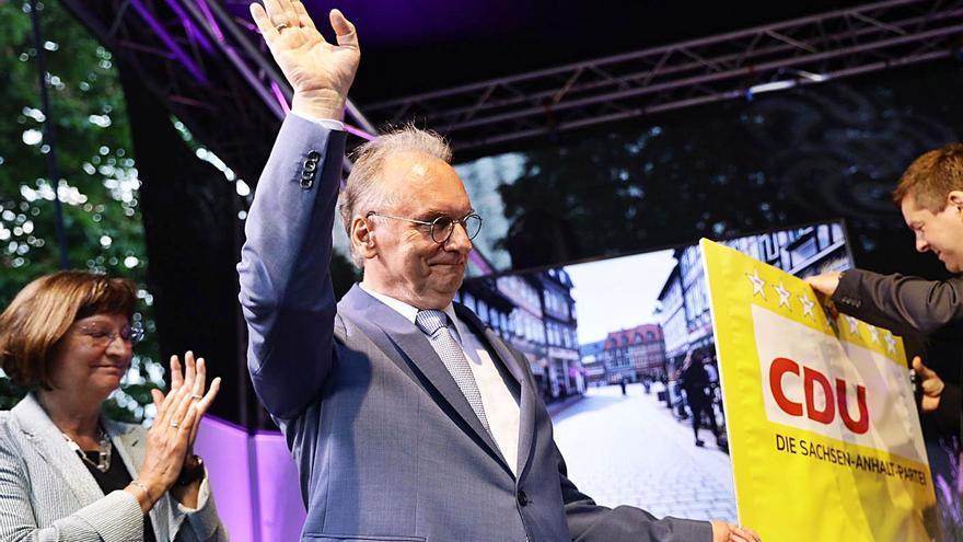 Victòria contundent del partit de Merkel als comicis regionals de Saxònia-Anhalt