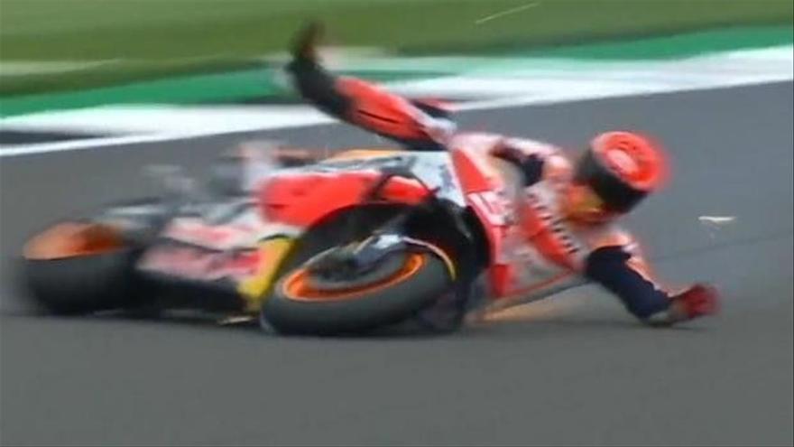 Márquez se daña un ojo al caerse a 267 kms/h