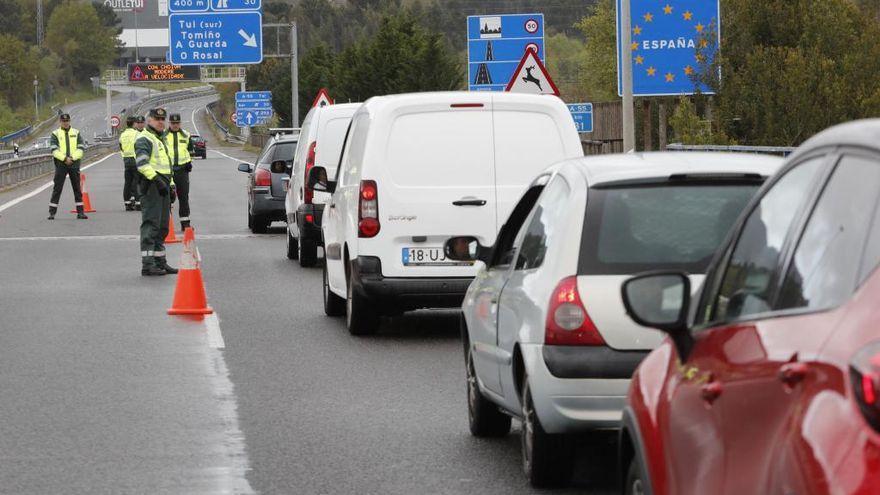Comienzan los controles en la frontera con Portugal por el cierre de Galicia durante el puente