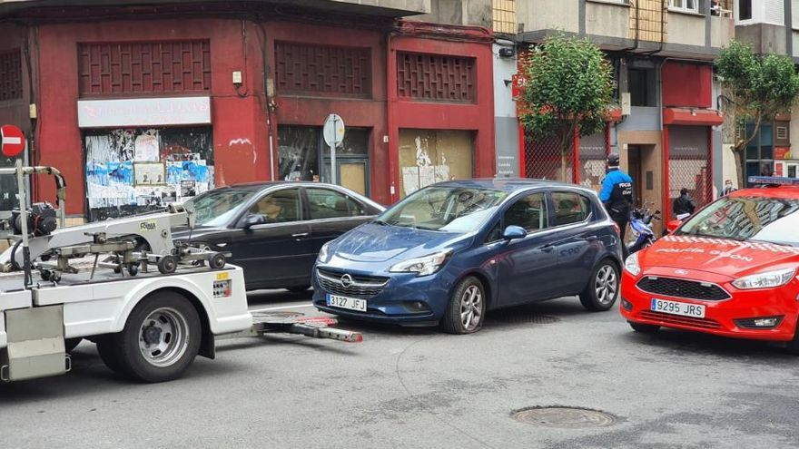 Atropello en la calle Manuel Llaneza (Gijón)