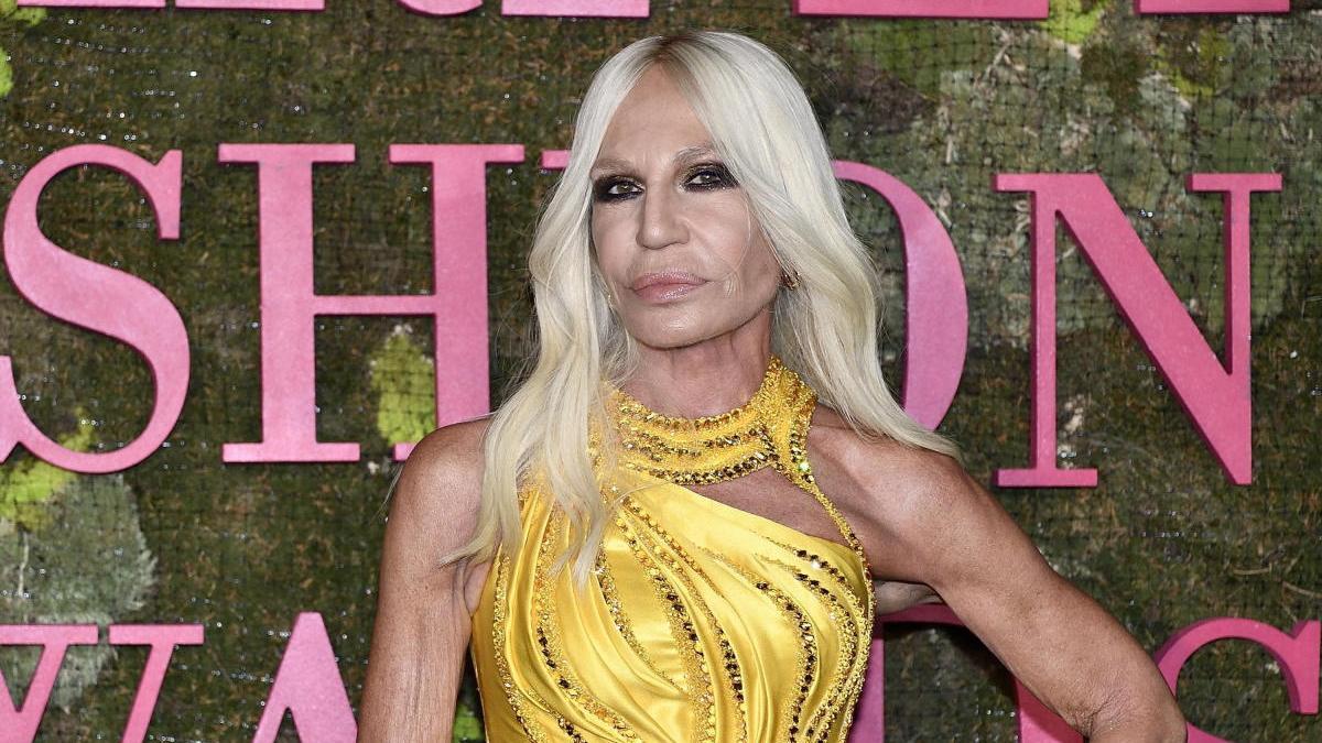 Donatela Versace en una imagen de archivo.
