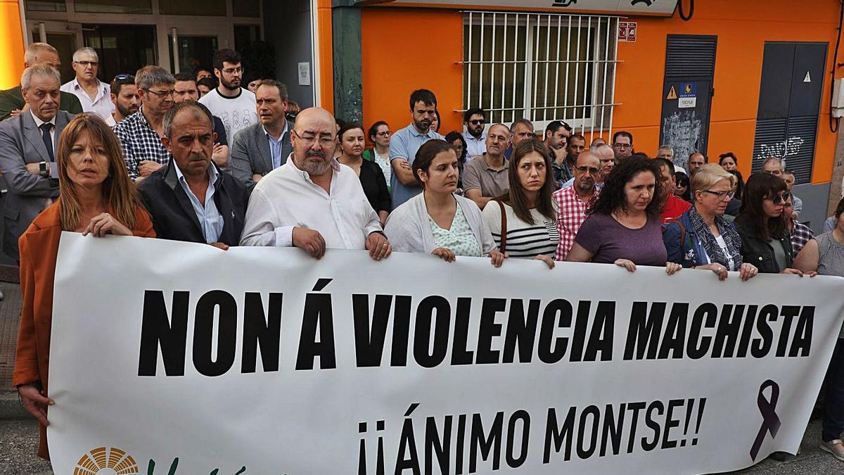 Compañeros de la víctima protestaban por la agresión en 2019. |   // XOÁN ÁLVAREZ