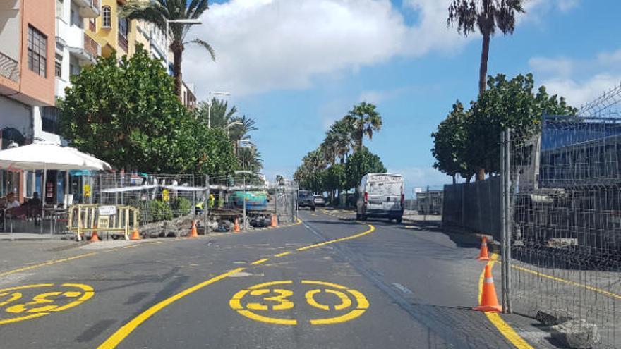 La avenida se acaba en febrero con aceras más anchas y solo 2 carriles