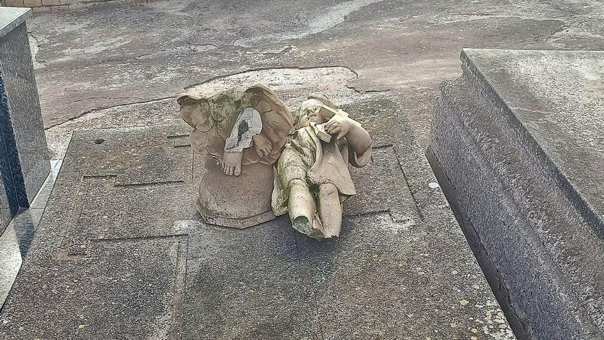 MC pide retirar del cementerio una efigie rota