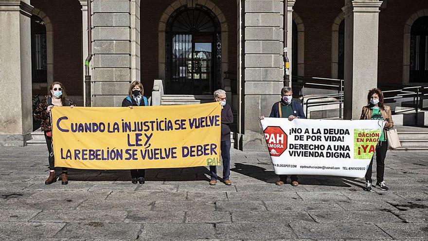 La PAH de Zamora pide la moratoria de los desahucios hasta 2022