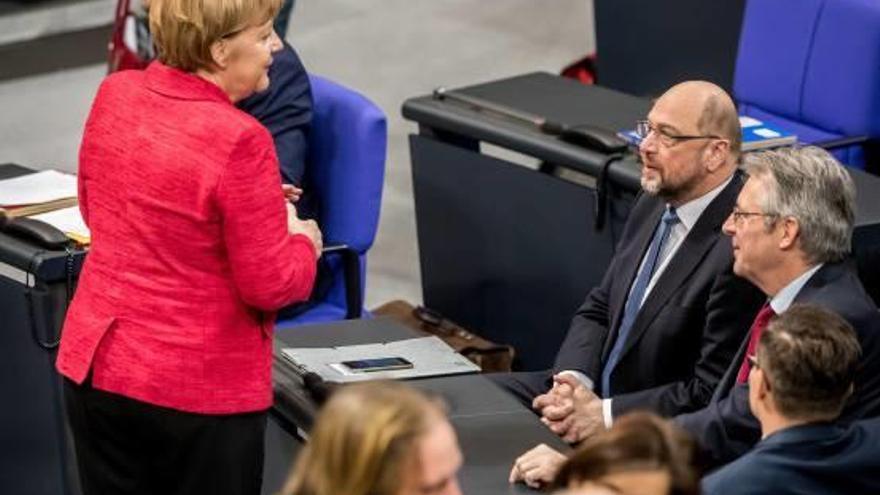 Schulz afirma que amb la gran coalició Alemanya ha de ser el motor d'Europa