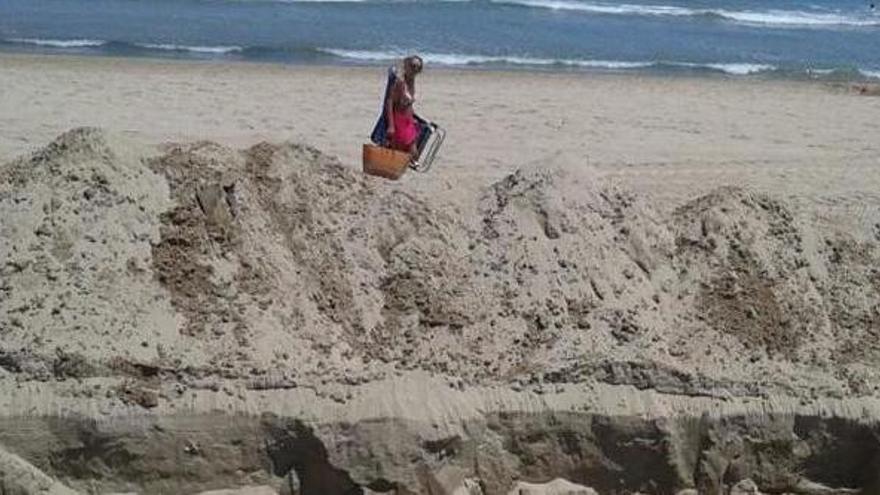 Las obras en las playas de Dénia se realizan ahora porque antes era época de cría del chorlitejo