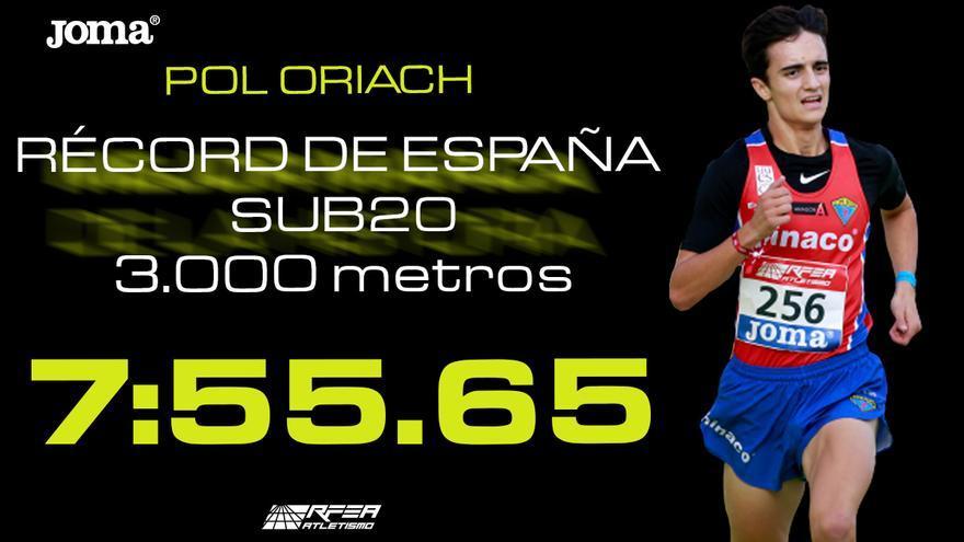 Pol Oriach bate el récord de España sub-20 al aire libre