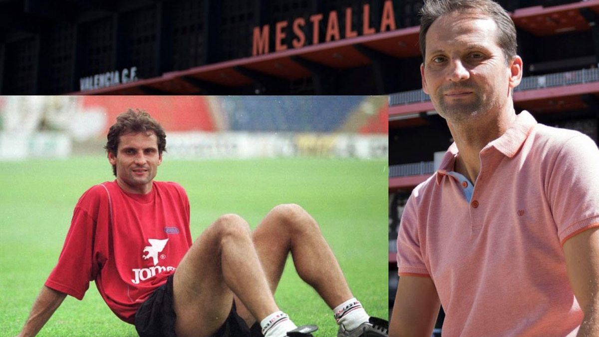 Ferran Giner, in an image from 1999 and in another from 2019.