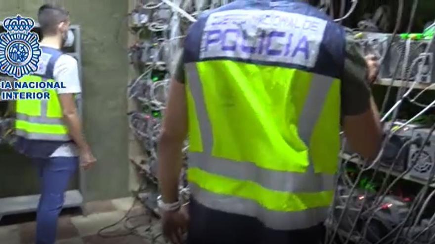 Desmantelan una granja ilegal de criptomonedas en Toledo