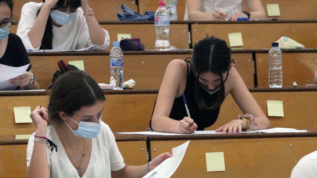 Cómo y cuándo consultar las notas de la PAU 2021 en la Comunitat Valenciana.