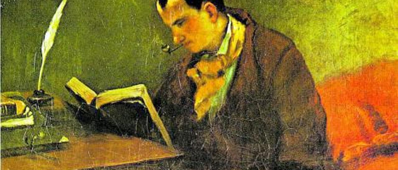 Charles Baudelaire pintado por Courbet en 1847.