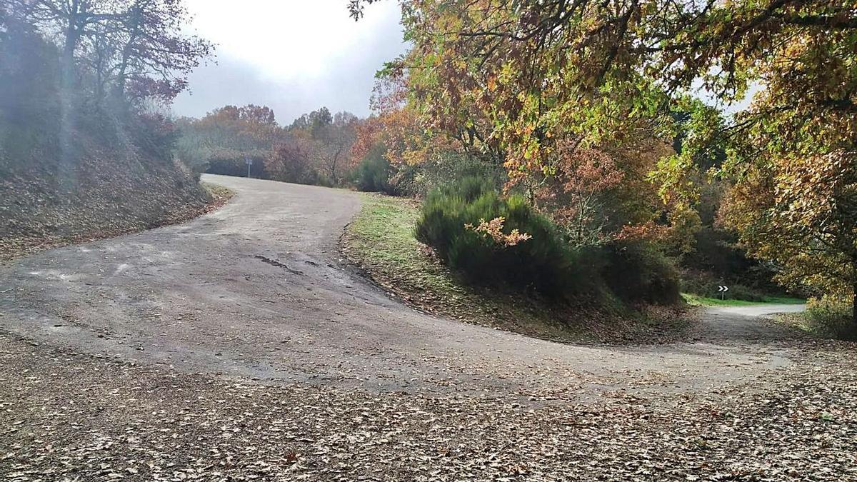Curva de la carretera que comunica las localidades Rábano de Aliste y Tola.    Chany Sebastián