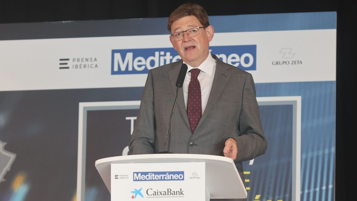 El president de la Generalitat, Ximo Puig, en su intervención en el Desayuno Empresarial de 'Mediterráneo' y CaixaBank