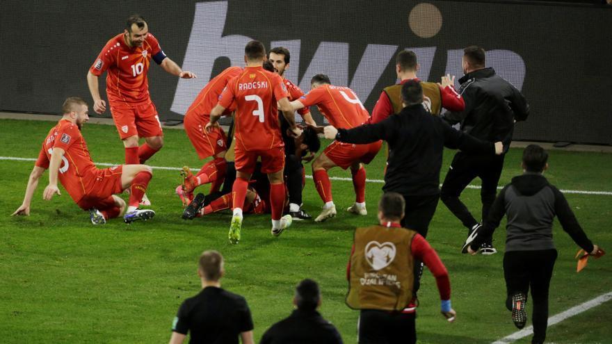 Macedonia del Norte celebra su histórico triunfo ante Alemania