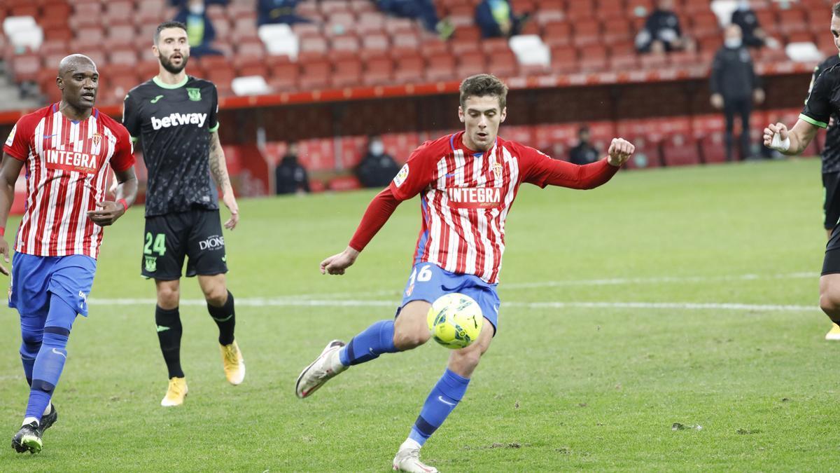 El partido entre el Sporting y el Leganés, en imágenes