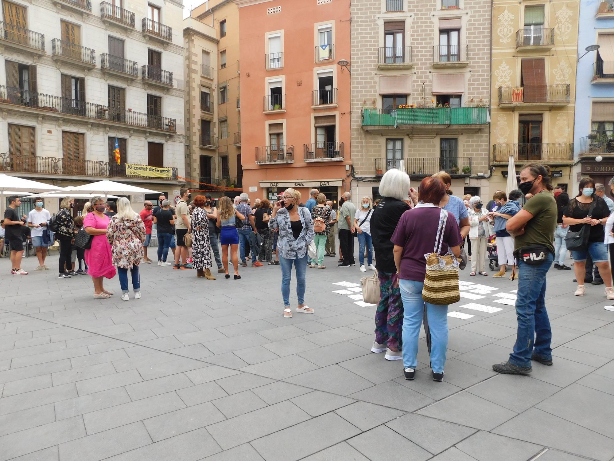 Concentració a Manresa contra la inseguretat ciutadana