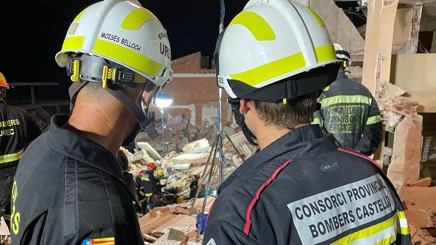 Localizan el cadáver de un menor en el derrumbe de Peñíscola