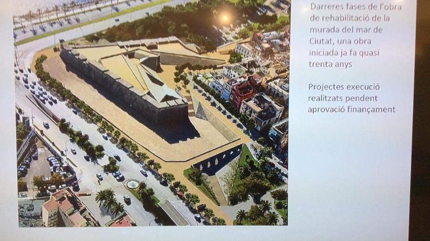 La rehabilitación del Baluard del Príncep finalizará el verano de 2021