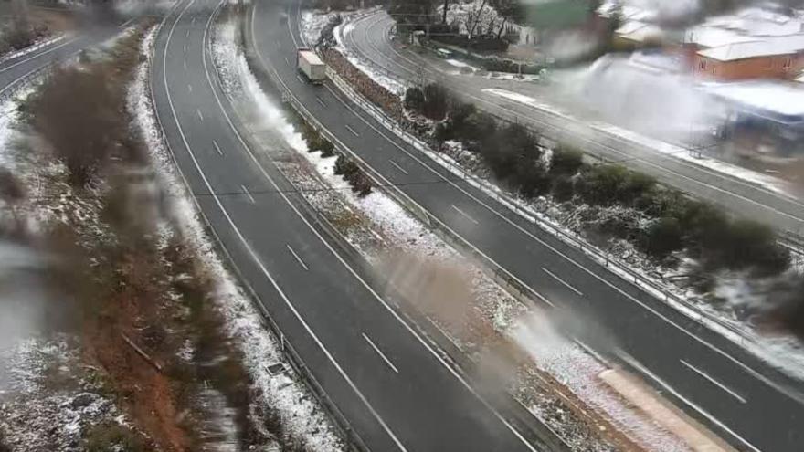Carreteras cortadas hoy en la Comunitat Valenciana por la borrasca Filomena