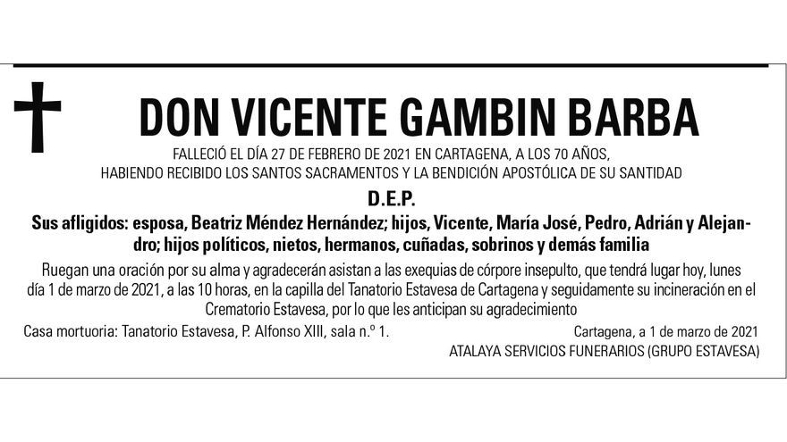 D. Vicente Gambín Barba