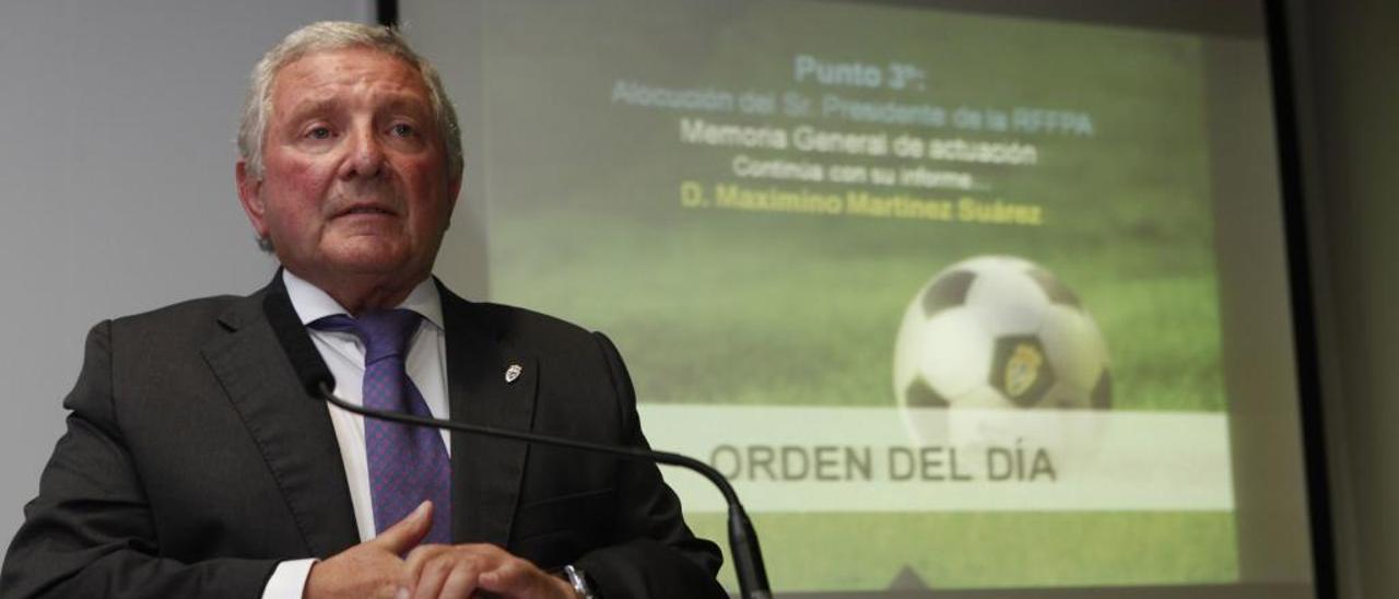 Maximino Martínez, presidente de la Federación Asturiana de Fútbol.