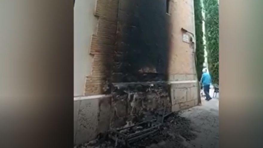 Incendio en la iglesia San Vicente Ferrer de Castelló