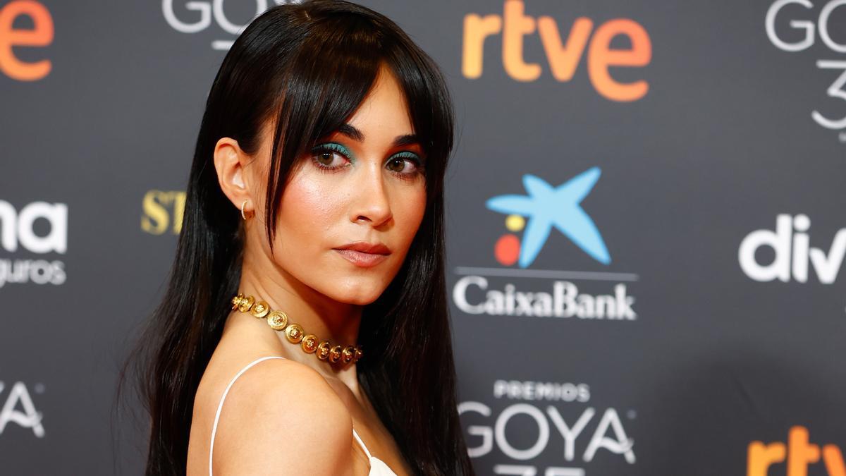 Aitana en la pasada edición de los Premios Goya.