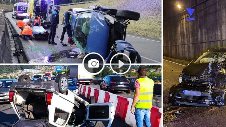 Semana negra de accidentes de tráfico en Vigo