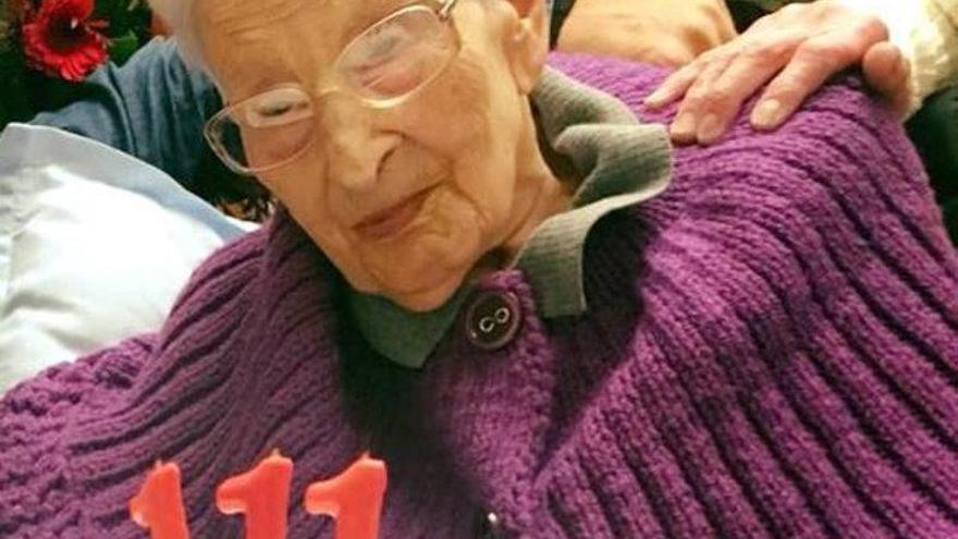 La veïna de Palamós Dolors Moret compleix el seu 111è aniversari