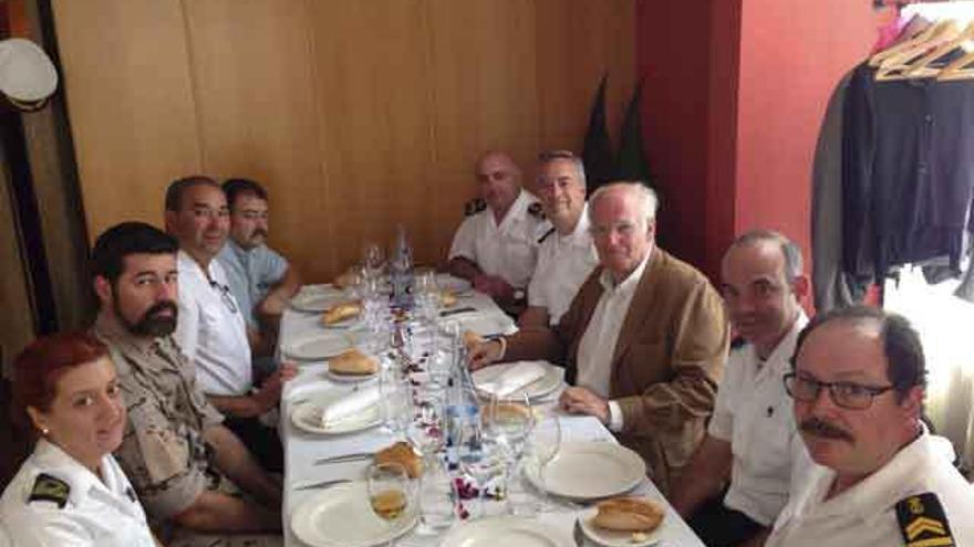 Almuerzo de la delegación de la Armada con García Faria, esta semana en Zamora.