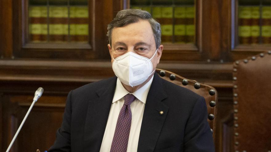 Draghi trabaja en su programa de Gobierno tras sumar una amplia mayoría