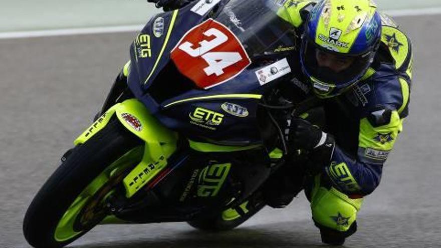 Desena posició de Xavi Pinsach (ETG) en el mundial de Superbikes a Motorland