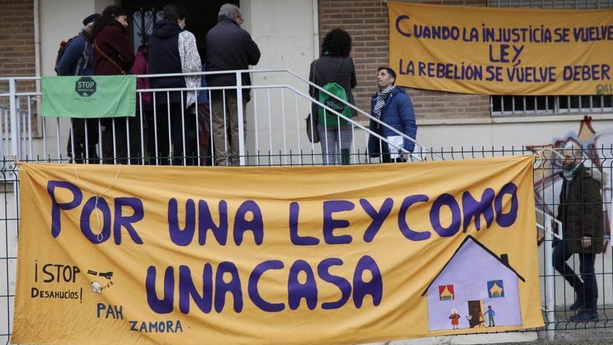 El desahucio de la madre y sus dos hijos en Zamora se ejecuta durante esta mañana
