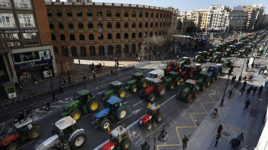 Valencia acoge la protesta de agricultores más multitudinaria de la década