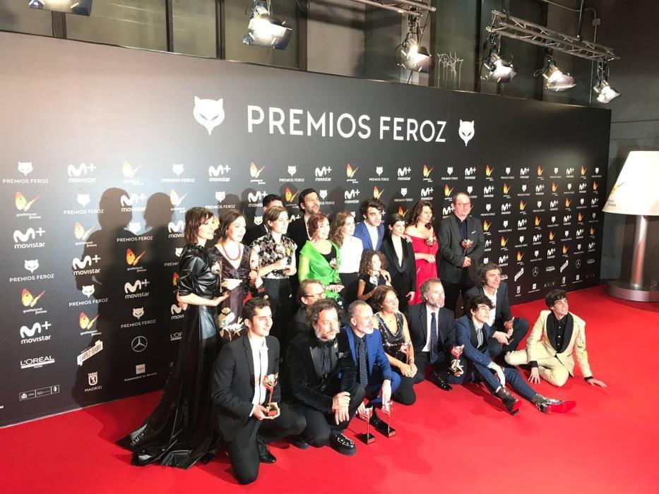 """Foto de familia de los premiados en los """"Feroz"""""""