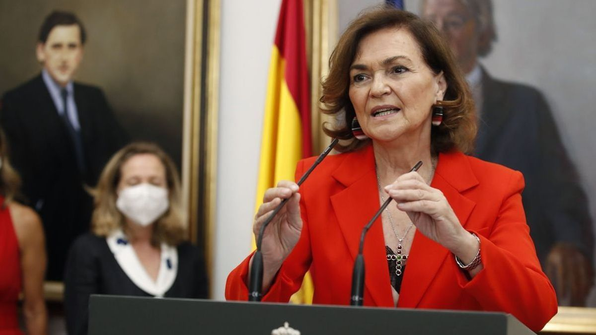 La ya exvicepresidenta del Gobierno, Carmen Calvo