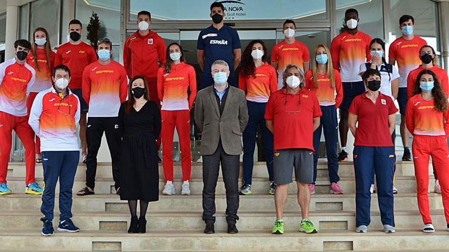 Oliva Visita a la selección española  de atletismo