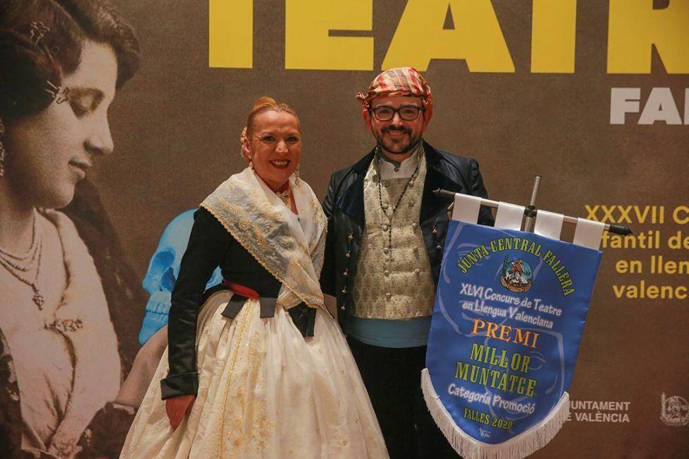 Premiados del concurso de Teatre Faller 2020 en la Gala de la Cultura