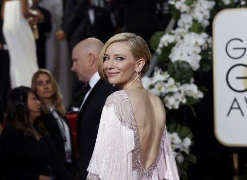 Cate Blanchett arrives at the 73rd Golden Globe Awards in Beverly Hills