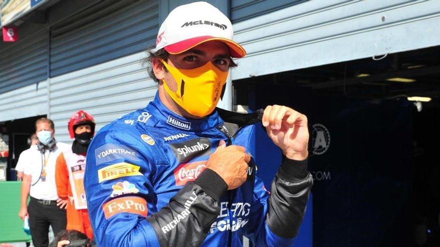 Sainz se posiciona en Monza para subir al podio